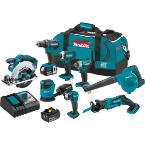Makita XT801X1 Combo Kit 18V LXT Lithium‑Ion Cordless 8‑Pc. (3.0Ah)
