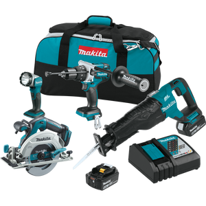 Makita XT448T 18V LXT® Lithium-Ion Brushless Cordless 4-Pc. Combo Kit (5.0Ah)