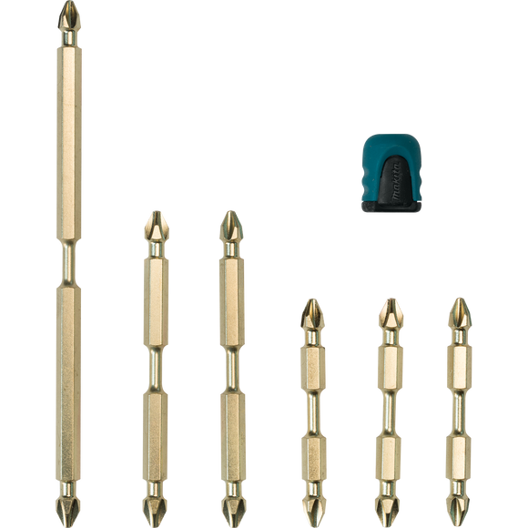Makita B-44987 Impact GOLD® 7 Pc. Double-Ended Power Bits with Mag Boost