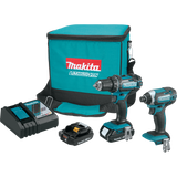 Makita CT225R 18V LXT® Lithium-Ion Compact Cordless 2-Pc. Combo Kit (2.0Ah)