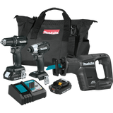 Makita CX300RB 18V LXT® Lithium-Ion Sub-Compact Brushless Cordless 3-Pc. Combo Kit (2.0Ah)