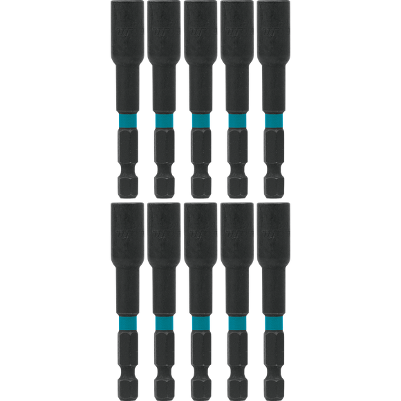 Makita A-97128 ImpactX™ 1/4″ x 2-9/16″ Magnetic Nut Driver, 10 pack