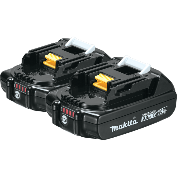 Makita BL1820B-2 18V LXT® Lithium-Ion Compact 2.0Ah Battery, 2 pack