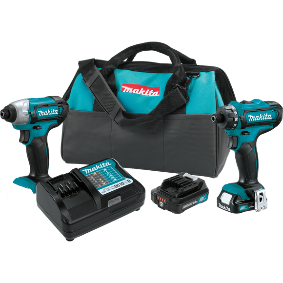 Makita CT230R 12V max CXT® Lithium-Ion Cordless 2-Pc. Combo Kit (2.0Ah)