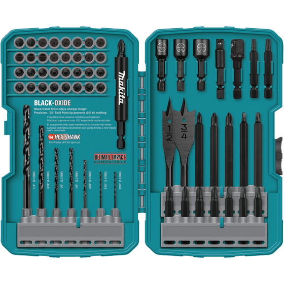 Makita T-01725 Contractor-Grade Bit Set, 70-Pc.