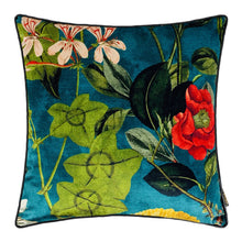 Load image into Gallery viewer, OPAL COTTON & FAUX LEATHER CUSHION - MRDUVETSHOME LTD