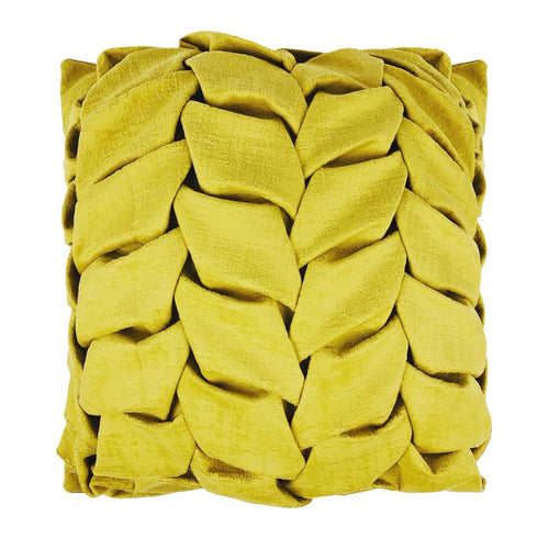 YELLOW TURTLE FRONT SUEDE CUSHION - MRDUVETSHOME LTD