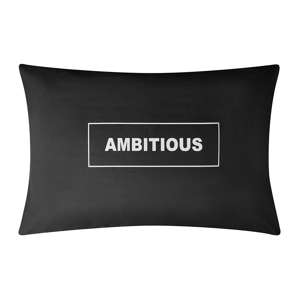 AMBITIOUS BLACK CUSTOM PILLOWCASE