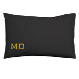 BLACK CUSTOM INTIAL PILLOWCASE SET
