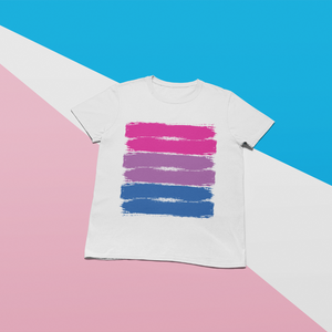 Bisexual Pride Brush Strokes T-Shirt - Mindpop
