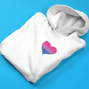 Bisexual Pride Heart Hooded Sweatshirt - Mindpop