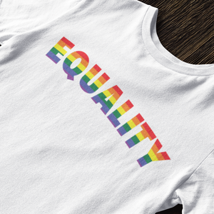 Equality Rainbow Print T-Shirt (7 Colors) - Mindpop