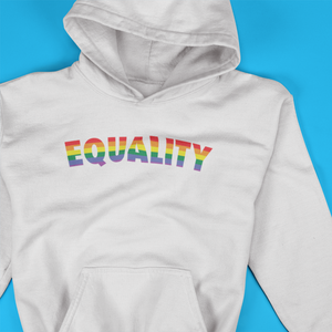 Equality Rainbow Print Hooded Sweatshirt - Mindpop