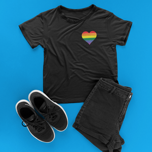 Gay Pride Rainbow Heart T-shirt - Mindpop