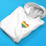 Gay Pride Heart Hooded Sweatshirt