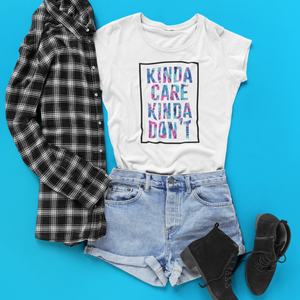 Kinda Care Kinda Don't Unisex T-Shirt - Mindpop