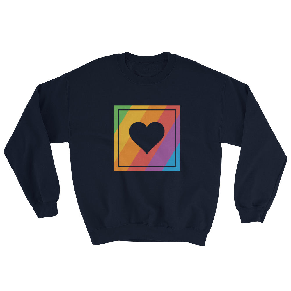 Gay Pride Retro Heart Crewneck Sweatshirt - Mindpop