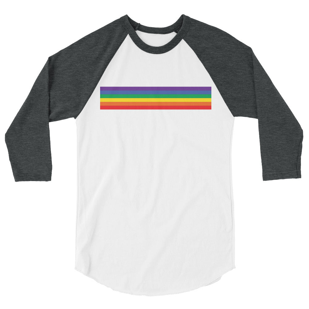 Rainbow Print 3/4 sleeve Raglan Shirt (4 colors) - Mindpop