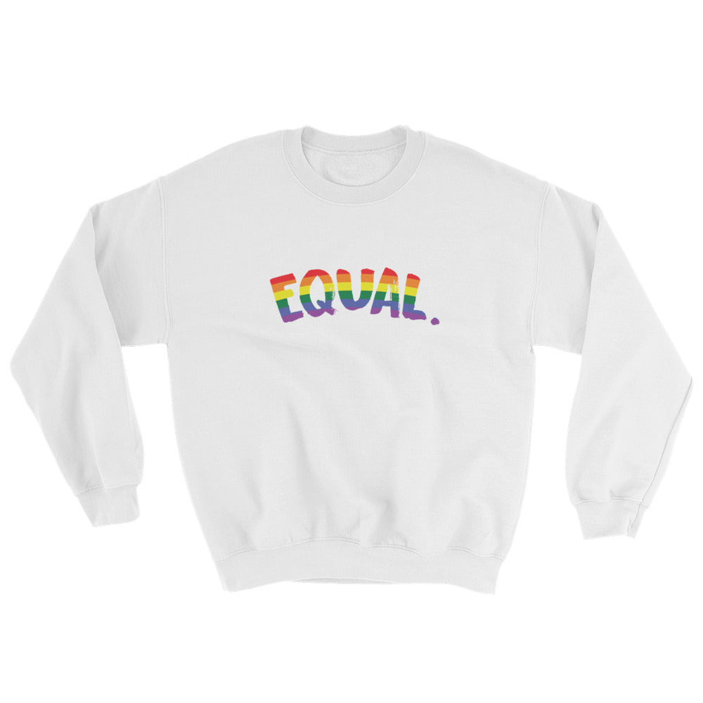 Equal. Gay Pride Rainbow Crewneck Sweatshirt - Mindpop