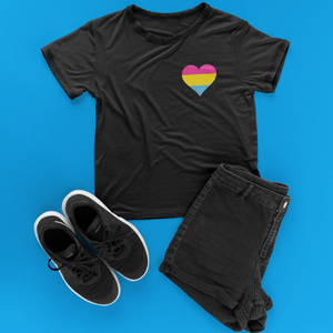 Pansexual Pride Heart T-Shirt