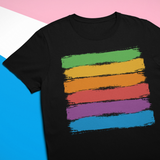 Gay Pride Rainbow Brush Strokes T-Shirt