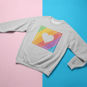 Gay Pride Retro Heart Crewneck Sweatshirt