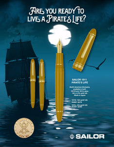Sailor 1911 Large Fountain Pen - Pirate's Life