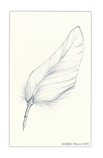 ARIBA Minori Coloring Card - Feather Pen