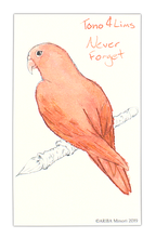 Load image into Gallery viewer, ARIBA Minori Coloring Card - Parakeet