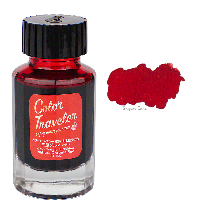 Color Traveler Mihara Daruma Red - 30ml Glass Bottle
