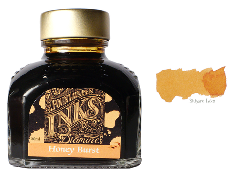 Diamine Honey Burst - 80ml Glass Bottle