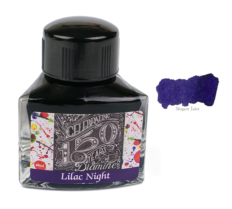 Diamine Lilac Night - 40ml Glass Bottle