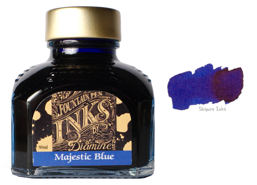Diamine Majestic Blue - 80ml Glass Bottle