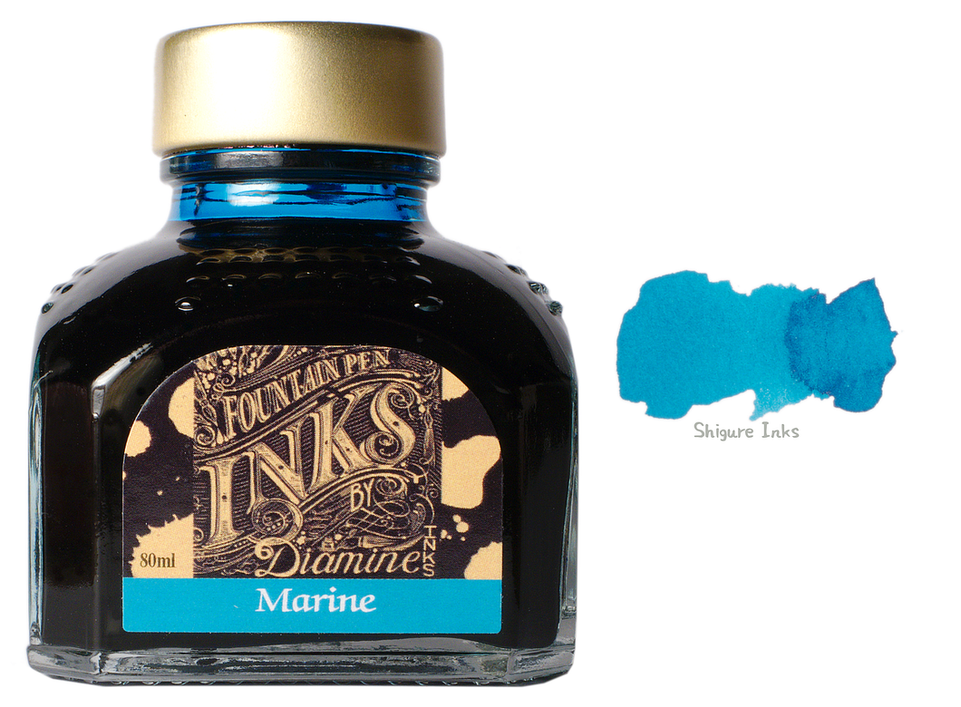 Diamine Marine - 80ml Glass Bottle