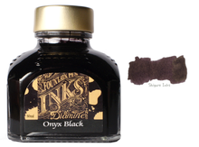 Load image into Gallery viewer, Diamine Onyx Black - 80ml Glass Bottle