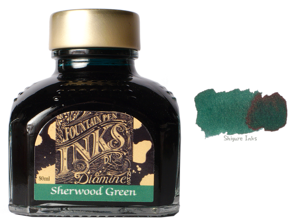 Diamine Sherwood Green - 80ml Glass Bottle