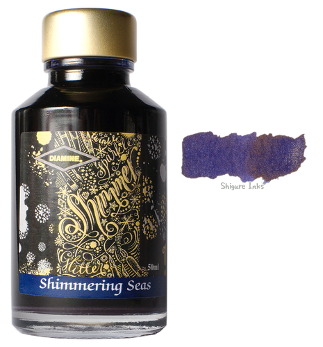 Diamine Shimmering Seas - 50ml Glass Bottle