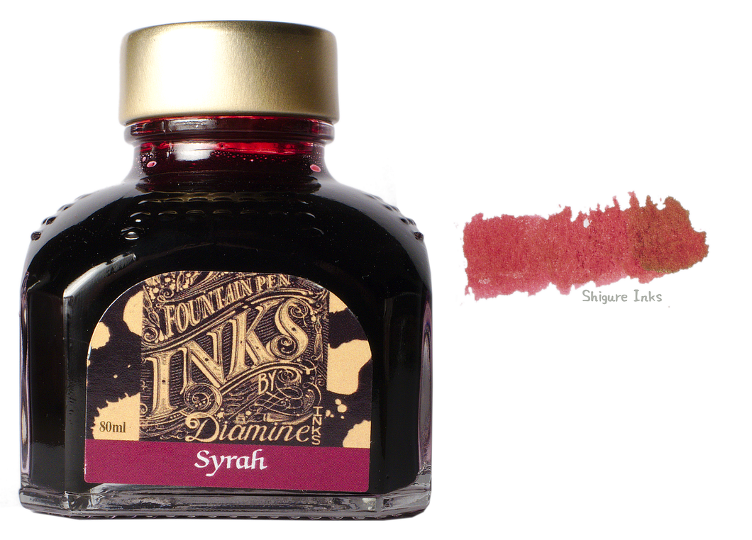 Diamine Syrah - 80ml Glass Bottle
