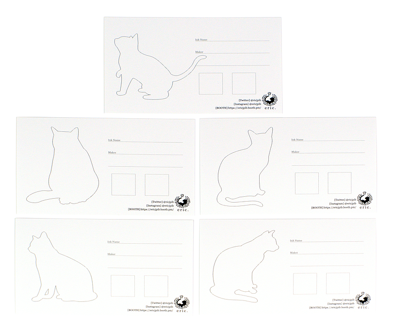 eric@kanan Ink Swatch Cards - Cat