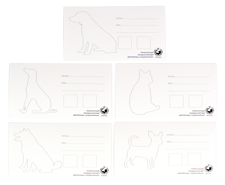 eric@kanan Ink Swatch Cards - Dog