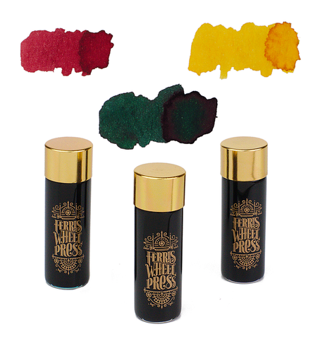 Ferris Wheel Press Ink Charger - Peppermint Drop/Buttered Popcorn/Candy Marsala - 3x5ml Glass Bottles