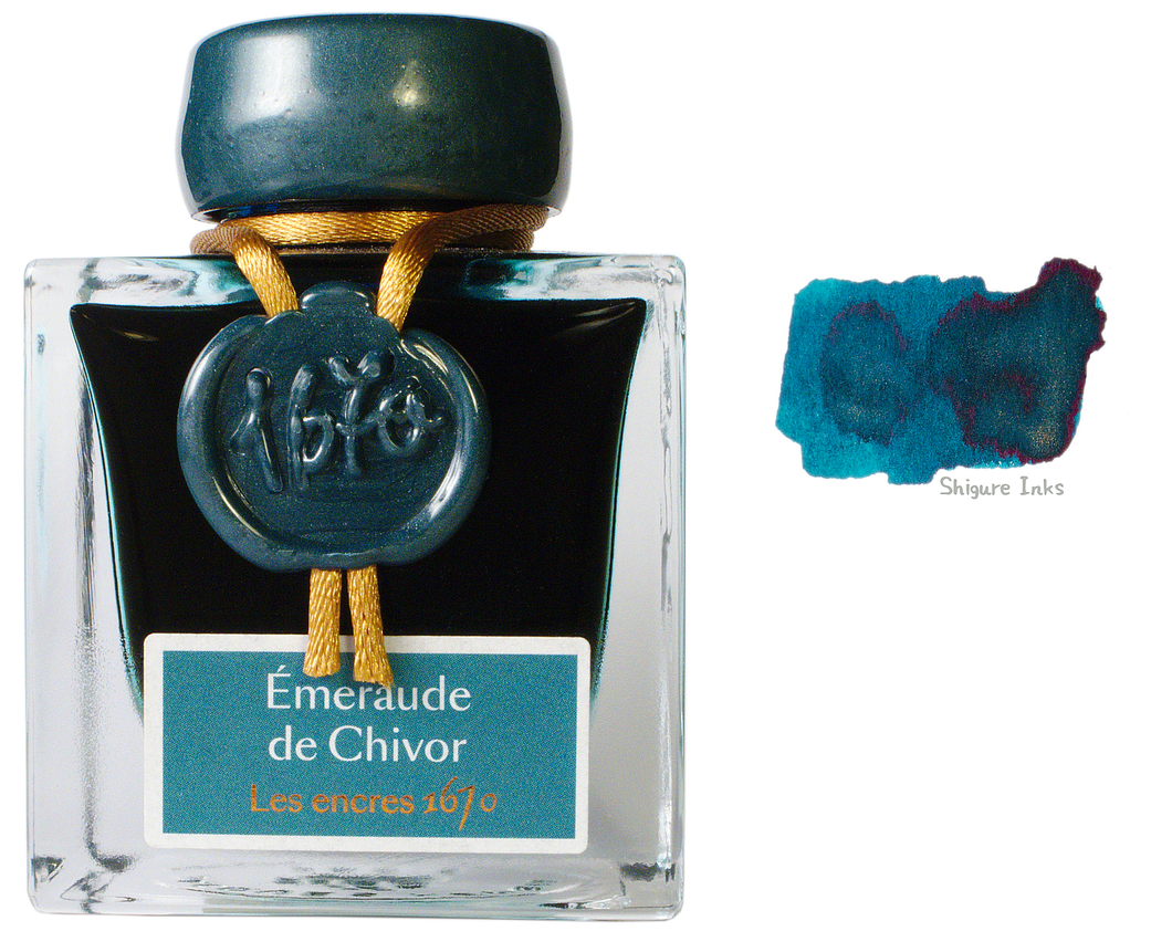 J Herbin 1670 Emerald of Chivor - 50ml Glass Bottle