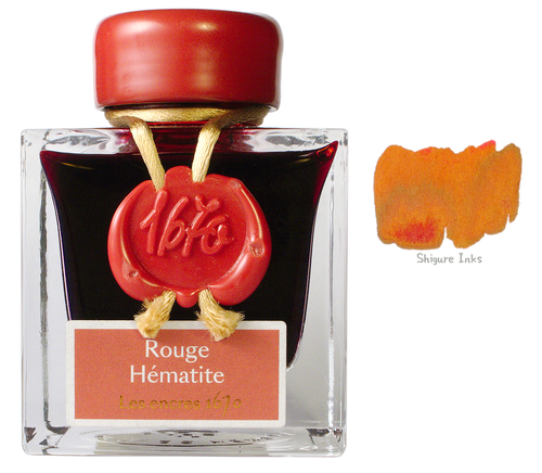 J Herbin 1670 Rouge Hematite - 50ml Glass Bottle