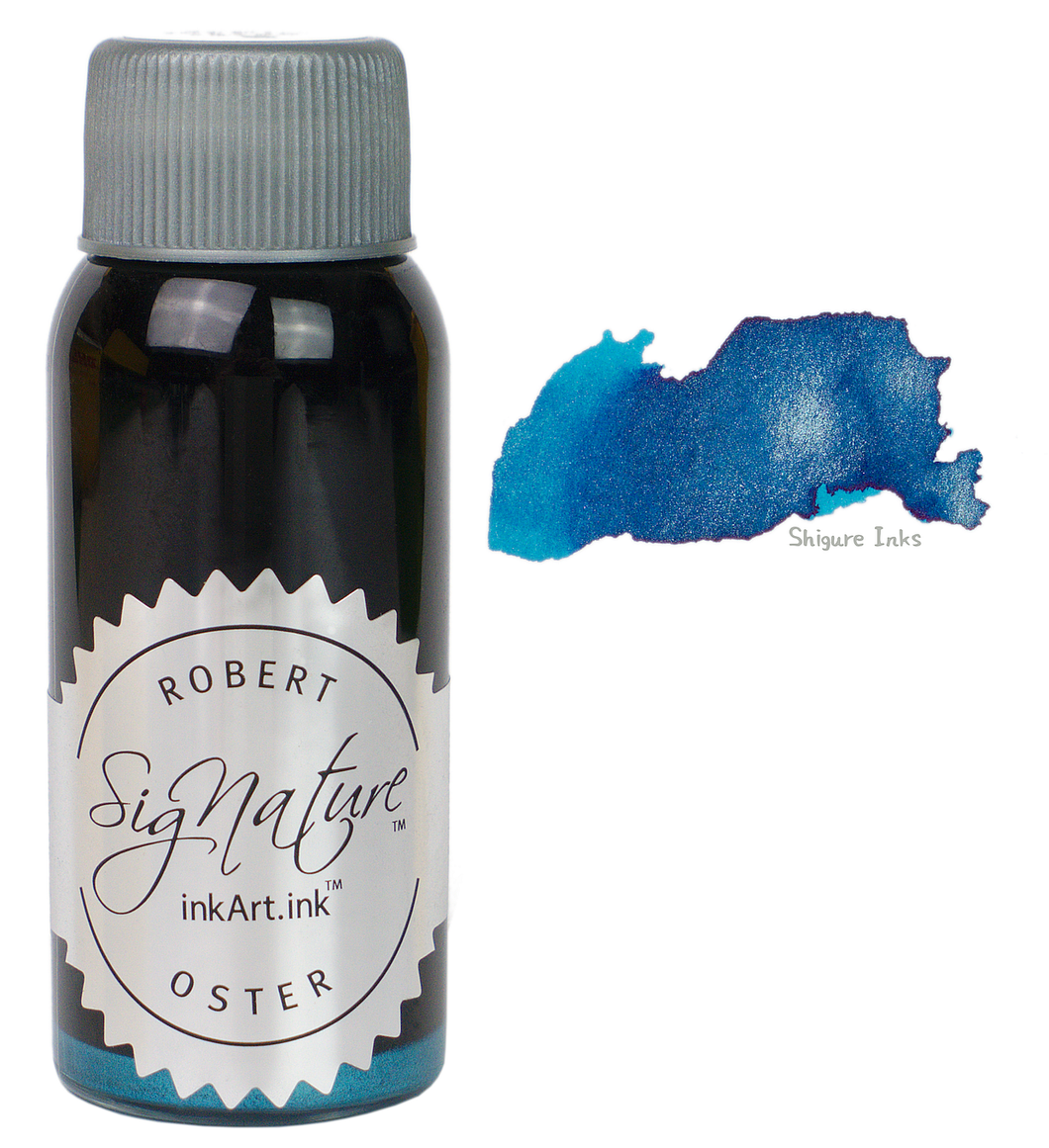 Robert Oster Shake 'N' Shimmy Silver Fire and Ice - 50ml