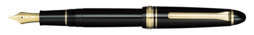 Sailor 1911 Standard Fountain Pen - Black with Gold Trim