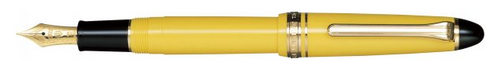 Sailor 1911 Standard Fountain Pen - Yellow with Gold Trim