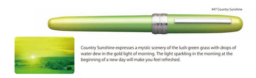 Platinum Plaisir Fountain Pen - Country Sunshine (Limited Edition)