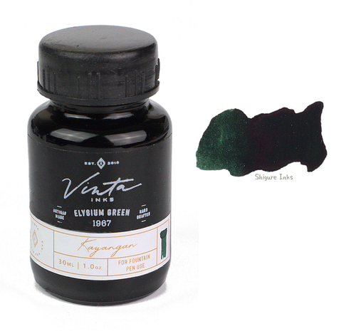Vinta Inks Elysium Green Kayangan 1967 - 30ml Glass Bottle