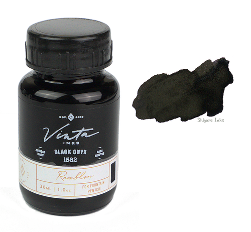 Vinta Inks Black Onyx Romblon 1582 - 30ml Glass Bottle