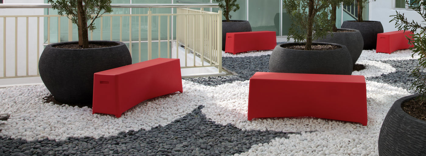 The Rumi Collection of outdoor benches